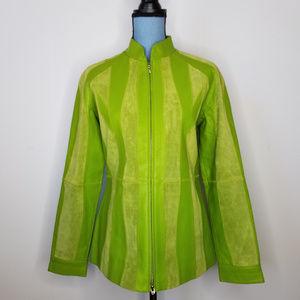 Vintage Bagatelle Leather Zip Front Scuba Jacket